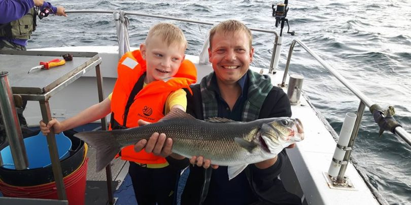 Sea fishing in Ireland with the kids