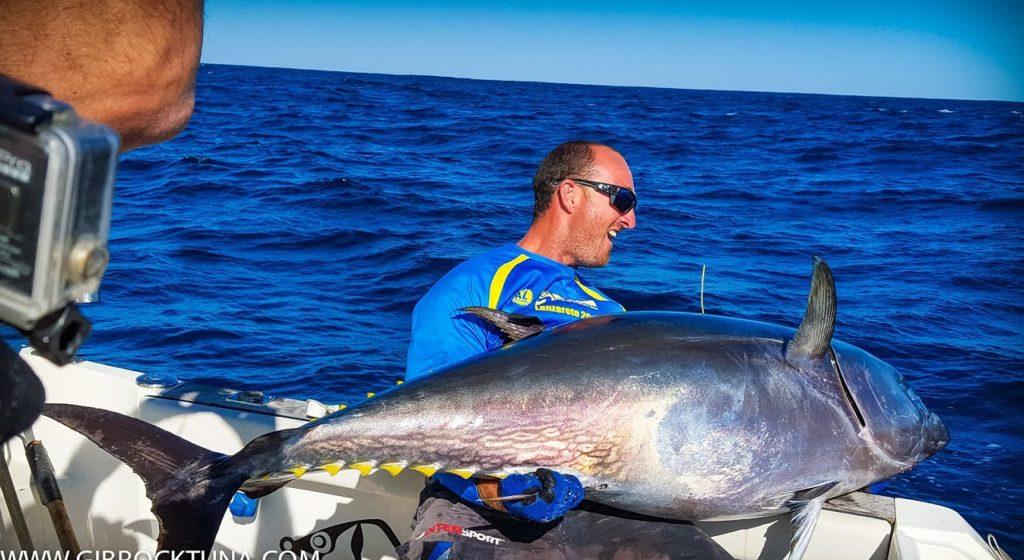 Bluefin tuna caught casting