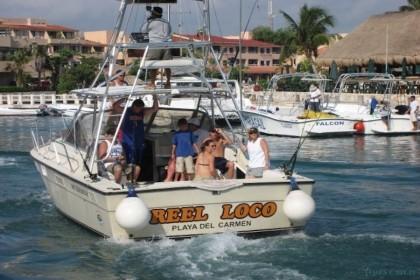 Carrete Loco Riviera Maya pesca