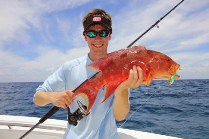 Jigging in Mauritius Isla de Mauricio pesca