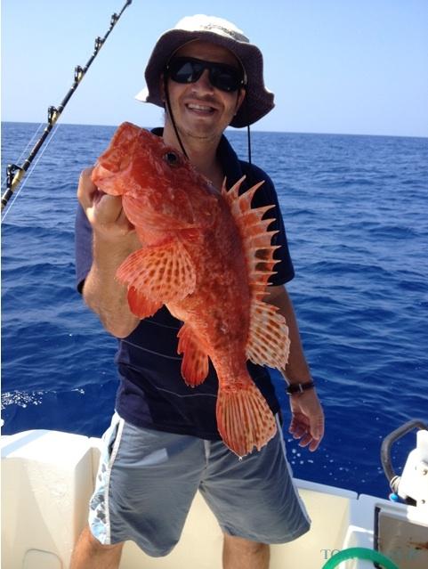 Charter de pesca Mar