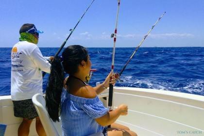 Christine I Riviera Maya fishing