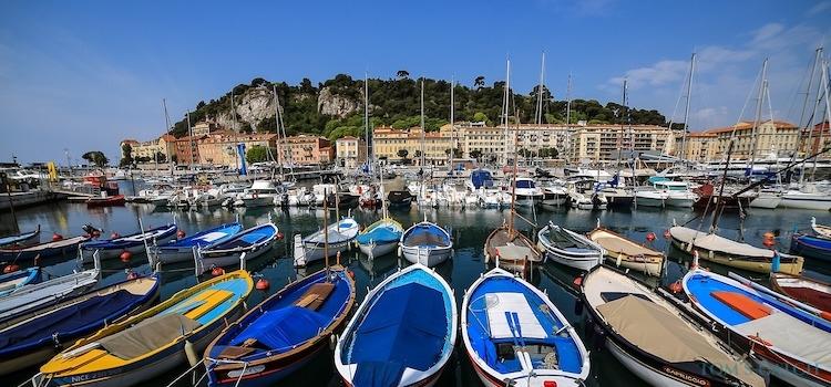 French Riviera fishing zone