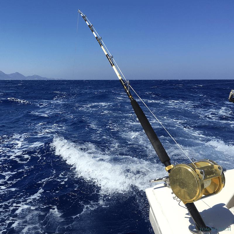 Charter de pêche Bertram 35ft Fishing Crete Island