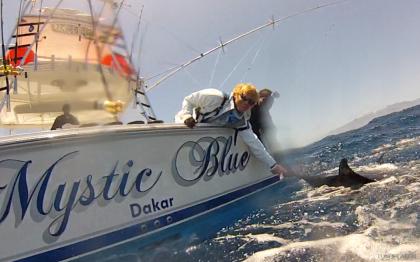 Mystic Blue Cap Vert pêche