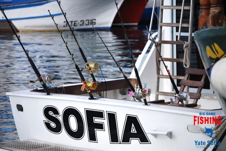 Charter de pêche Yate Sofia
